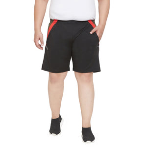 bigbanana Lobel Black Solid Antimicrobial Sports Shorts