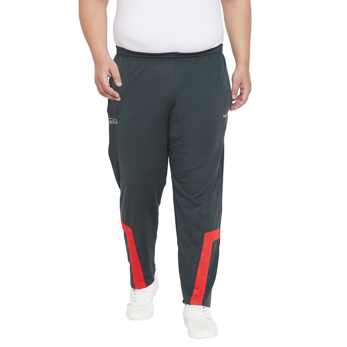 bigbanana Locock Teal & Red Colourblocked Antimicrobial Track Pants
