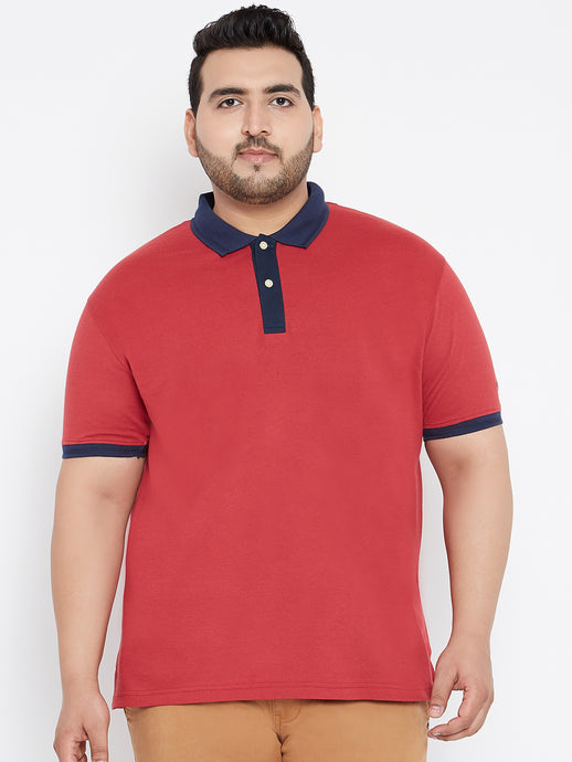 LOUIE Polo T-shirts in Magenta and Navy