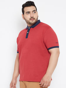 XL LOUIE Polo T-shirts in Magenta and Navy