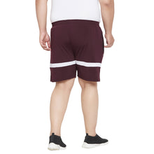 bigbanana Mapel Maroon and White Striped Antimicrobial Sports Shorts