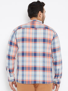 Long Sleeves MAX Navy and White Casual Shirts in Madras Checks