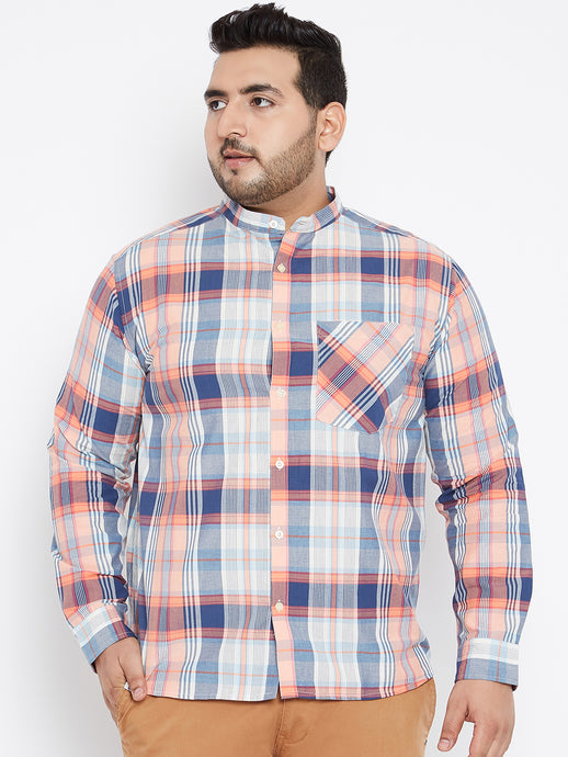 Long Sleeves MAX Navy and White Casual Shirts