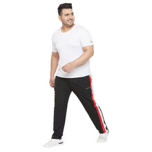 bigbanana Mumro Black Colorblocked Plus Size Track Pants