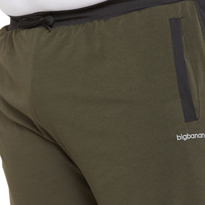 bigbanana Nebel Olive Solid Antimicrobial Sports Shorts