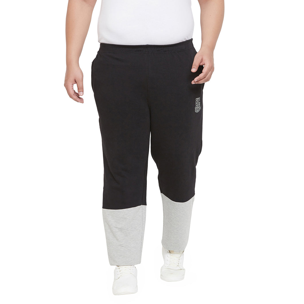 bigbanana Ravin Black & Grey Colourblocked Antimicrobial Track Pants