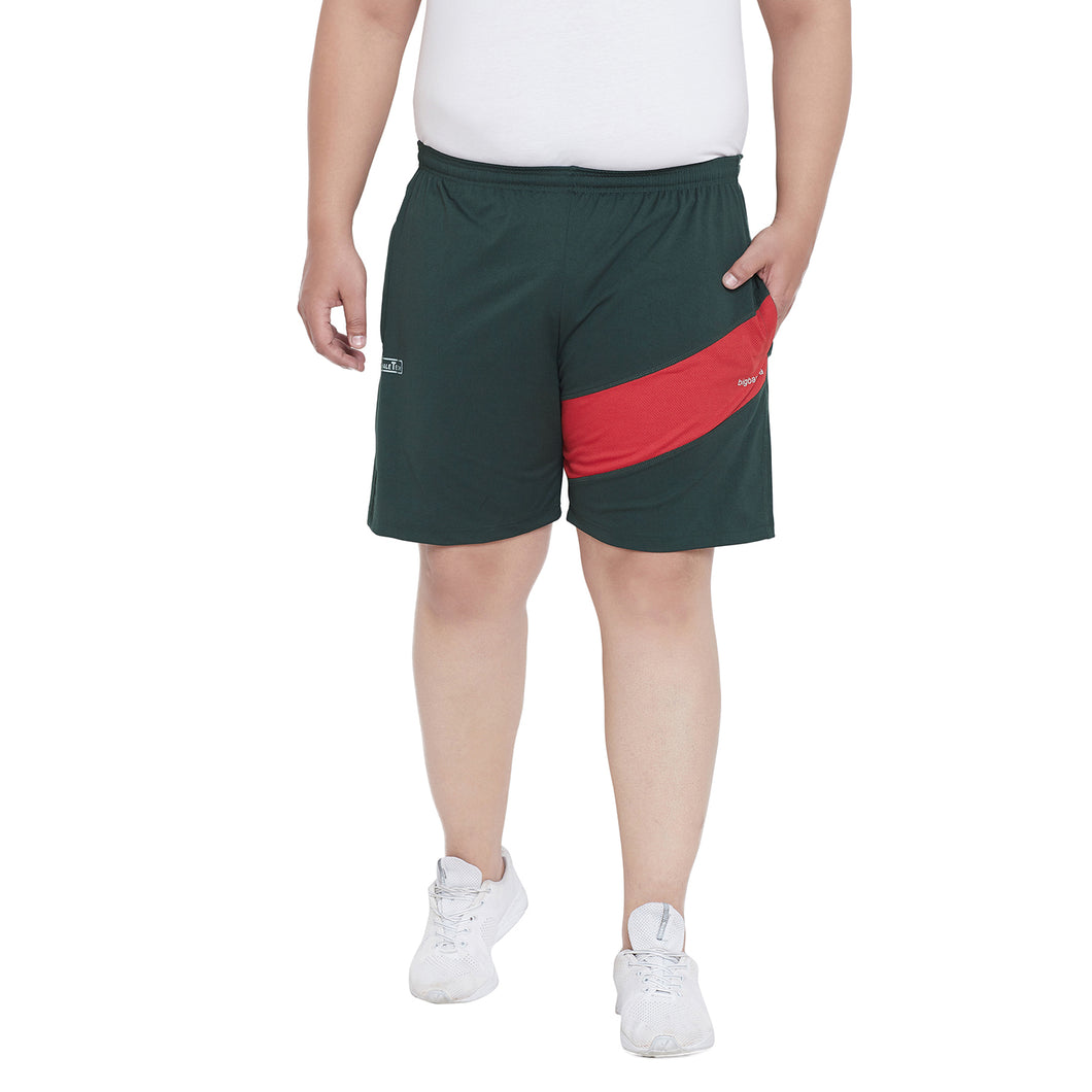bigbanana Read Teal Solid Regular Fit Sports Shorts