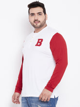 bigbanana Rex Men White Solid Henley Neck T-shirt - Bigbanana