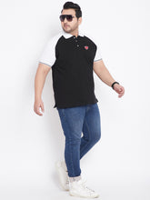 bigbanana Ryan Black & White Polo Collar T-shirt