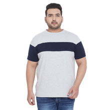 bigbanana Rylan Plus Size Grey Striped Round Neck T-shirt