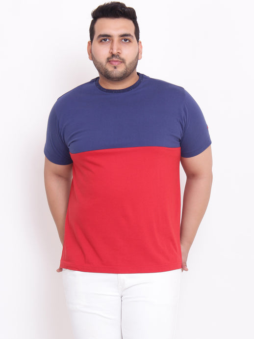 bigbanana Samuel Round Neck Navy Color blocked tshirt - Bigbanana