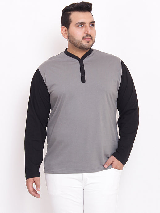 bigbanana Terence Henley Grey Color With Contrast Placket and Sleeves