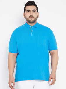 bigbanana TOBY Polo Tshirts in Blue with Pocket - Bigbanana