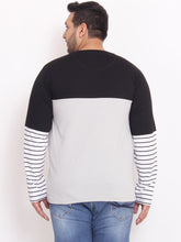 bigbanana Trio black and Silver colorblocked henley - Bigbanana