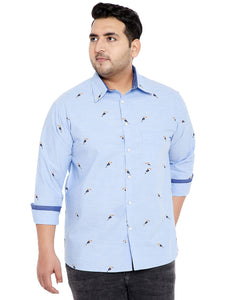 bigbanana Vin Light Blue Printed Shirt