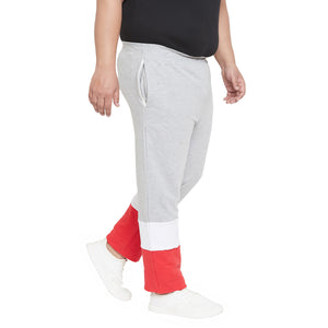 bigbanana Vivsie Grey, white & red Colourblocked Antimicrobial Track Pants