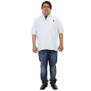 Bigbanana Tom Pique Polo White - Bigbanana