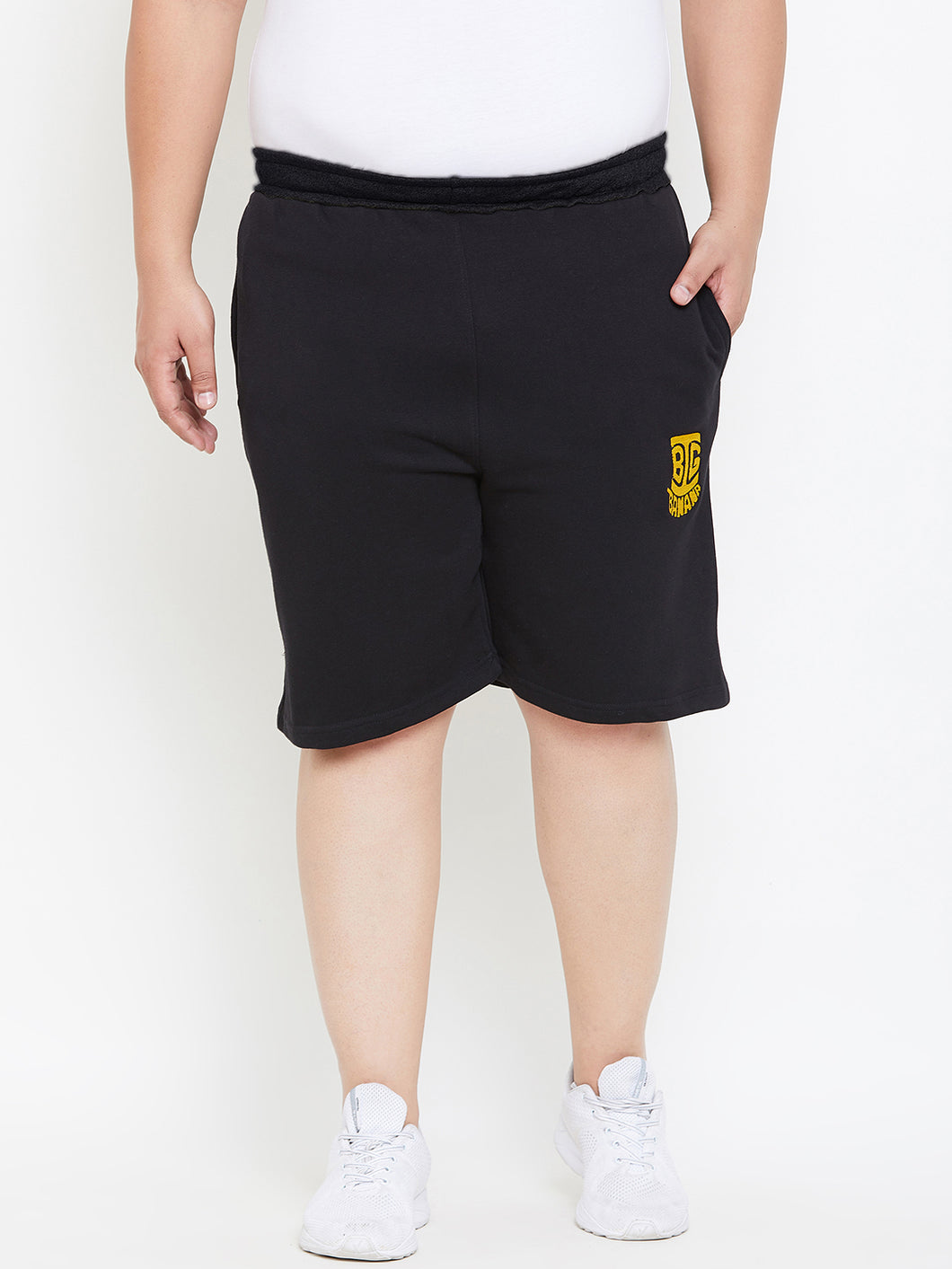 bigbanana Sal Black Solid Antimicrobial Shorts