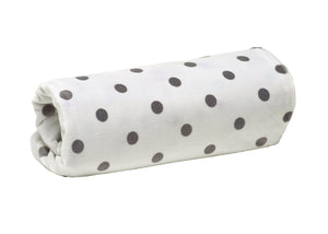 Grey & White Spotted Fleece Baby Blanket-Baby Elegance