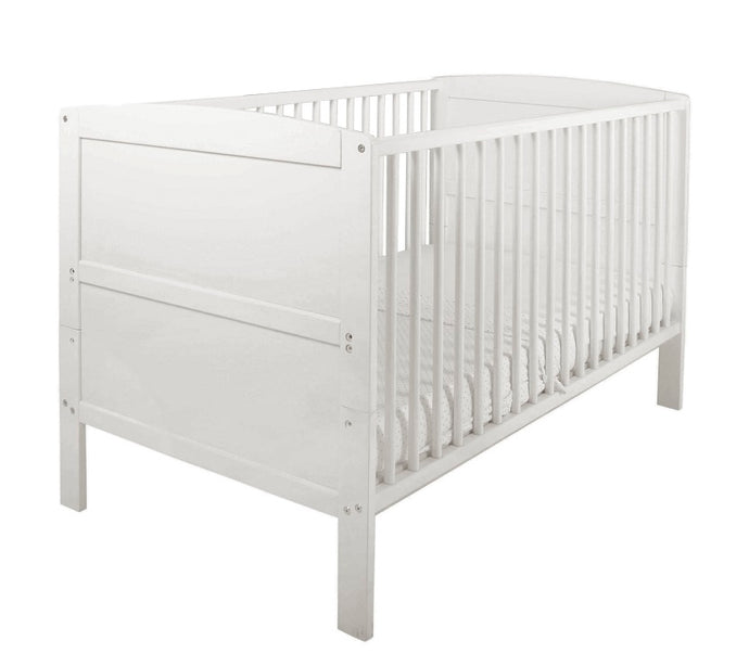 East Coast Hudson Cot Bed, White