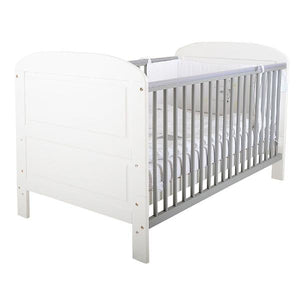 East Coast Nursery Angelina cot bed, White/Grey