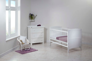 East Coast Venice Cot Bed, White