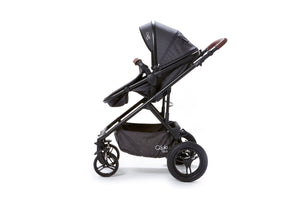 Baby Elegance Cupla Duo Single Travel System inc. 2 in 1 Pushchair, Car seat & Rain Cover - Black