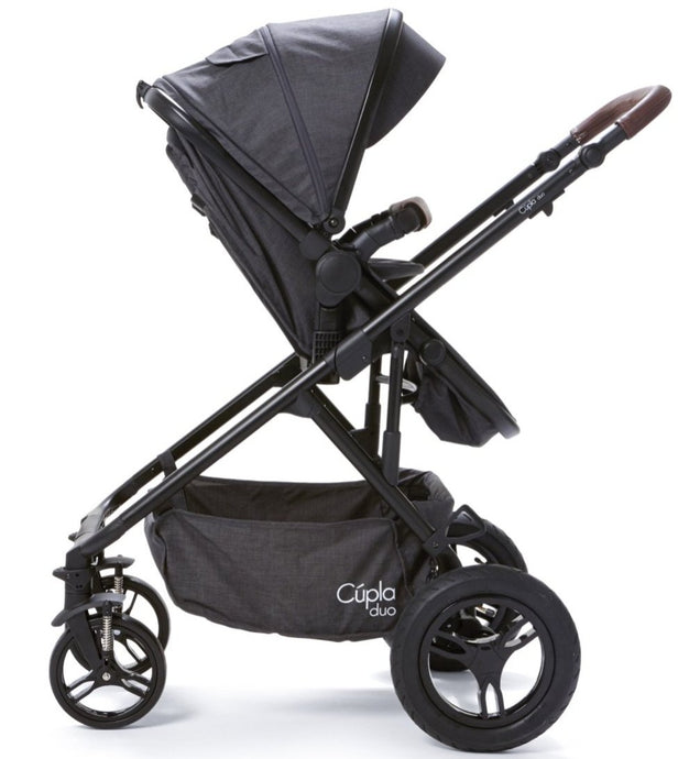 Baby Elegance Cupla Duo 2 in 1 Pushchair & Rain Cover - Black Edition