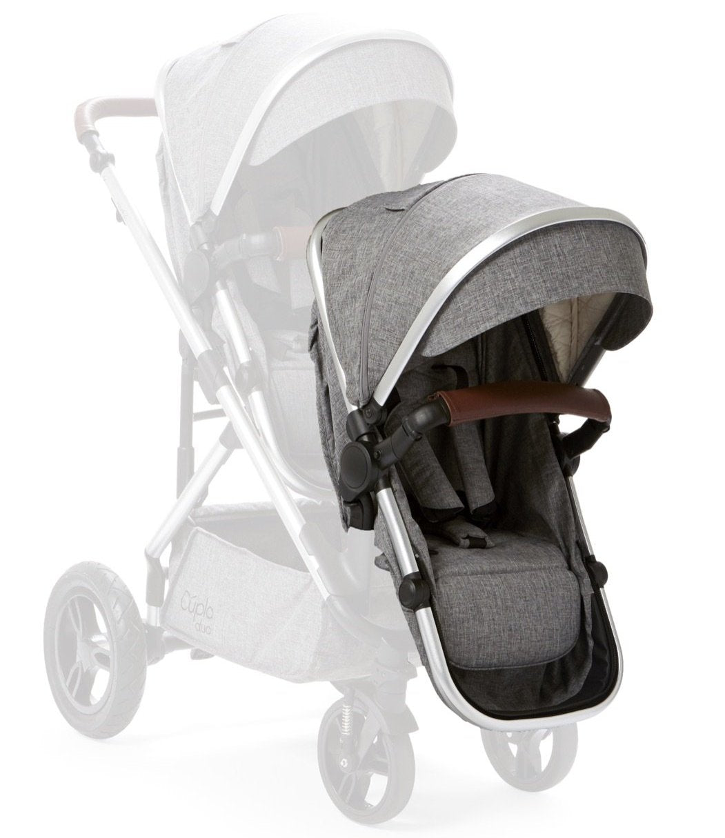 Baby Elegance Cupla Duo Second Seat, Rain Cover & Front Adaptors - Grey