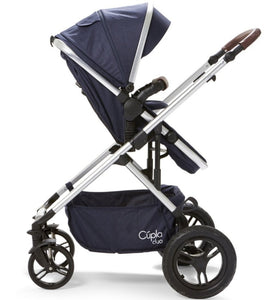 Baby Elegance Cupla Duo 2 in 1 Pushchair & Rain Cover - Navy
