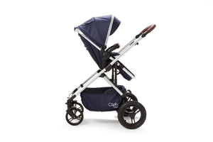 Baby Elegance Cupla Duo Single Travel System inc. 2 in 1 Pushchair, Car seat & Rain Cover - Navy