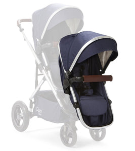 Baby Elegance Cupla Duo Second Seat, Rain Cover & Front Adaptors - Navy
