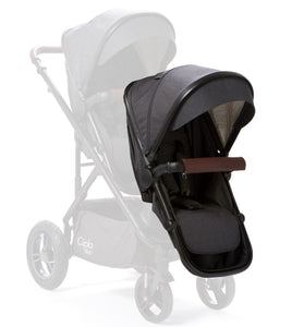 Baby Elegance Cupla Duo Second Seat, Rain Cover & Front Adaptors - Black Edition