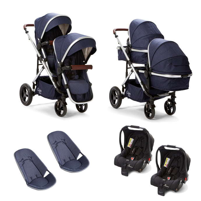 Baby Elegance Cupla Duo Twin Travel System - Navy