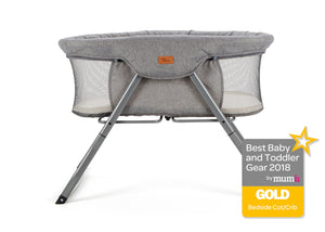 Baby Elegance Kangu Foldable Crib - Grey