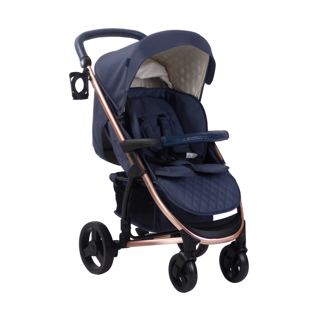 My Babiie Billie Faiers MB200 Pushchair - Rose Gold and Navy