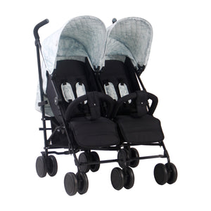 "MAWMA Nicole ""Snooki"" Polizzi Marble Twin Stroller with reversible seat liners MB22"