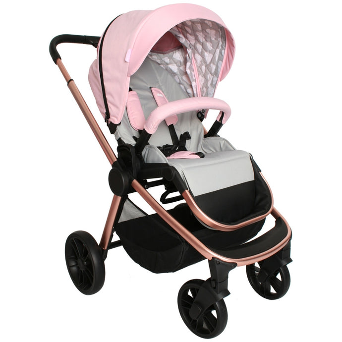 My Babiie Samantha Faiers MB400 Rose Gold Pink Clouds Pushchair-NEW