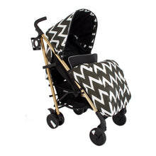 My Babiie MB51 Gold Edition Chevron Stroller
