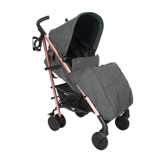 My Babiie Billie Faiers MB51 Stroller - Rose Gold, Grey and Navy