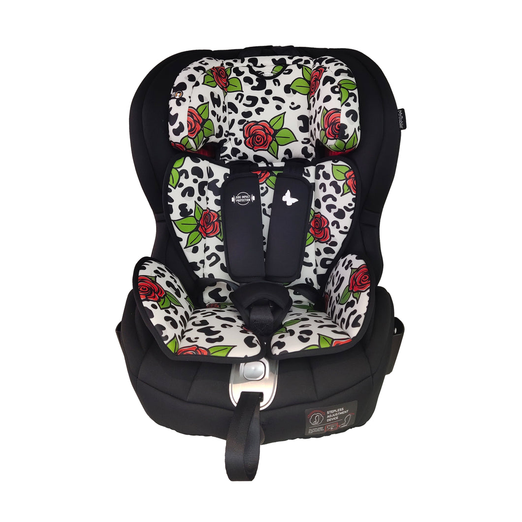 Katie Piper Believe Group 1 2 3 Rose Leopard Isofix Car Seat
