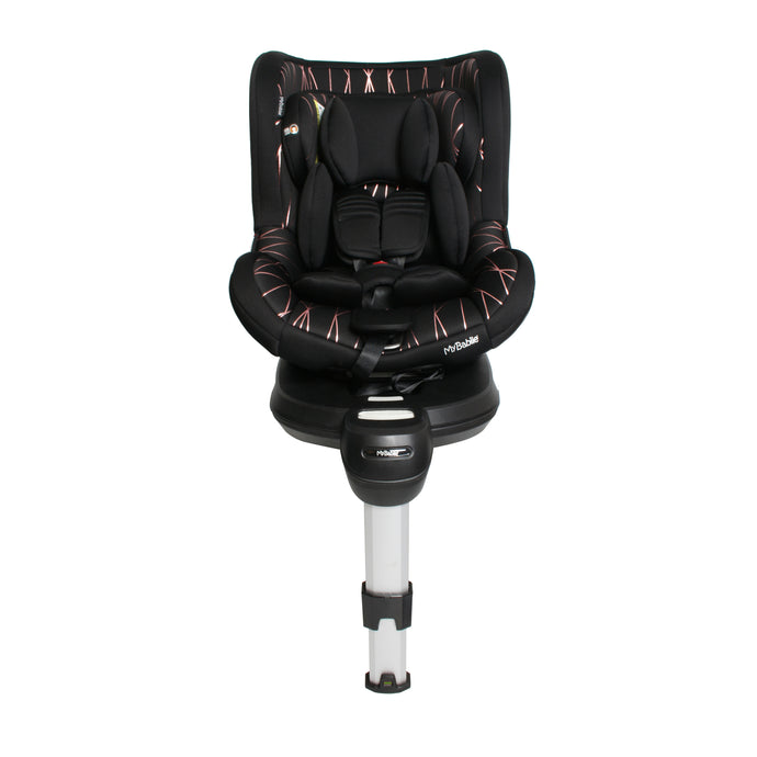 My Babiie Orbit Group 0+/1 Black and Rose Gold Spin Car Seat