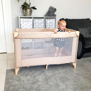 My Babiie Blush Quilted Travel Cot