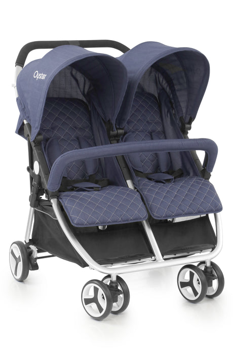 BabyStyle Oyster Twin Stroller - Oxford Blue