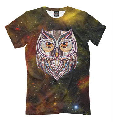 T-shirt T-shirt space owl | OWL-463396-fut-2 photo #1