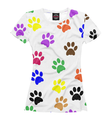T-shirt T-shirt rўanine footprints | DOG-554887-fut-1 photo #1