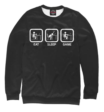 Sweatshirt Sweatshirt eat sleep play | OTR-568931-swi photo #1