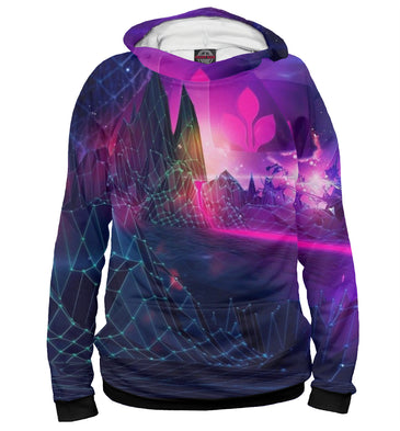 Hoody Hoody psychedelic in the style of glitch | PSY-357337-hud photo #1