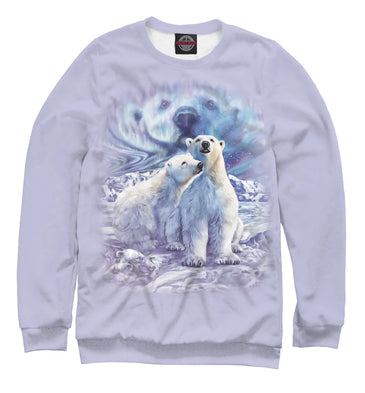 Sweatshirt Sweatshirt white bears | MED-616789-swi photo #1