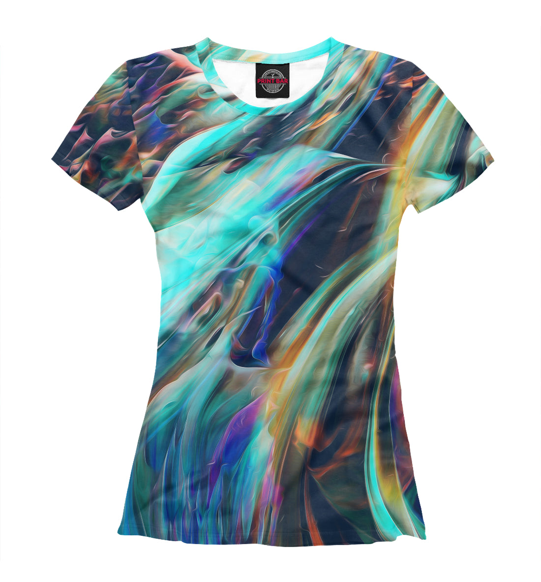 T-shirt abstract waves | ABS-512858-fut-1
